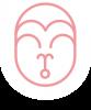 Hanuman Logo Mund offen - Zeilentrenner