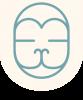 Hanuman Logo Augen zu - Zeilentrenner