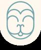 Hanuman Logo Zunge drause - Zeilentrenner